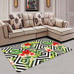Washable Rug Floral Soft Home Creative Carpet -