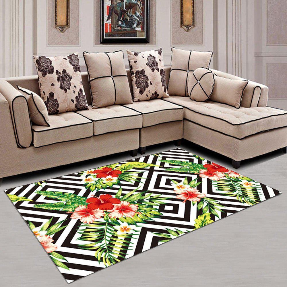 Trendy Washable Rug Floral Soft Home Creative Carpet