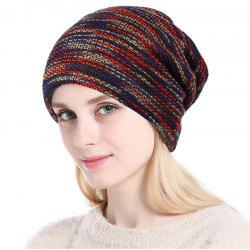 New Lady Fashion Colors Knitting with Faux Fur Warm Lining Hat -