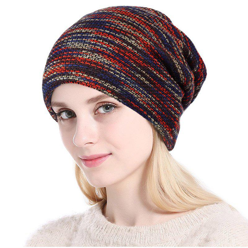 Buy New Lady Fashion Colors Knitting with Faux Fur Warm Lining Hat