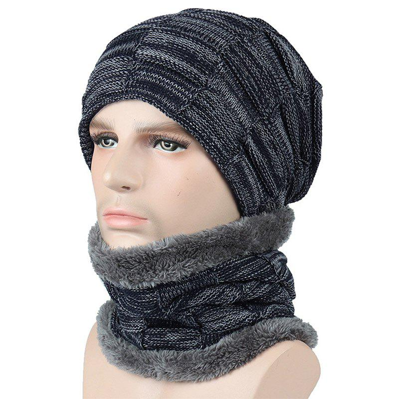 Новые мужские и женские плед Faux Fur Warm Lining Cap and Neck Warmer Skullies Beanie