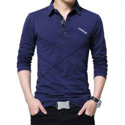 New Men Fashion Full Sleeve Turn-Down Collar Korea Casual Solid T-Shirt -