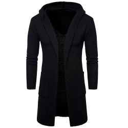New Men Fashion Spring Autumn Winter Full Sleeve with Cap Long Sweater Cardigan -