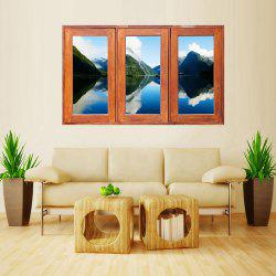 MailingArt Wall Sticker Home Decor False Faux Window Sticker Mountain Shadow -