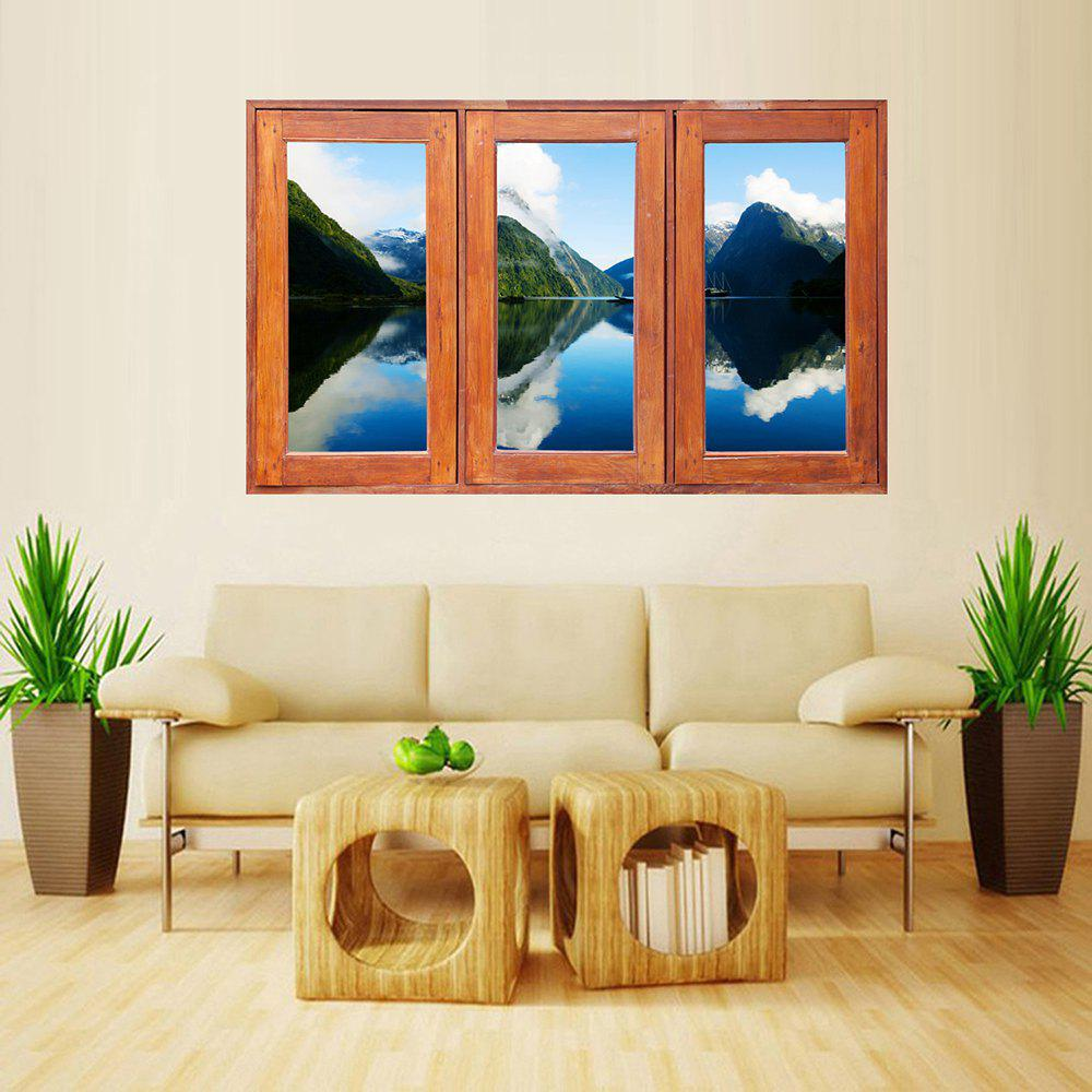 Latest MailingArt Wall Sticker Home Decor False Faux Window Sticker Mountain Shadow