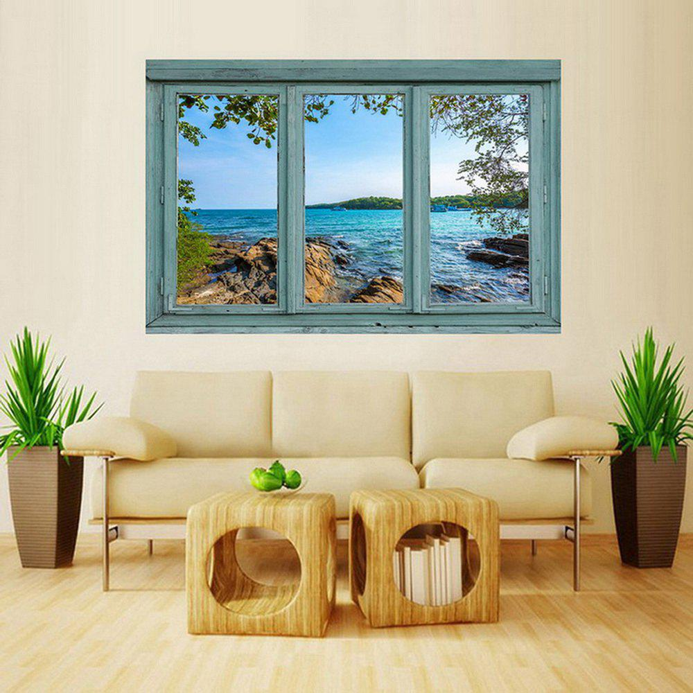 Store MailingArt Wall Sticker Home Decor False Faux Window Sticker Spring Sea Side