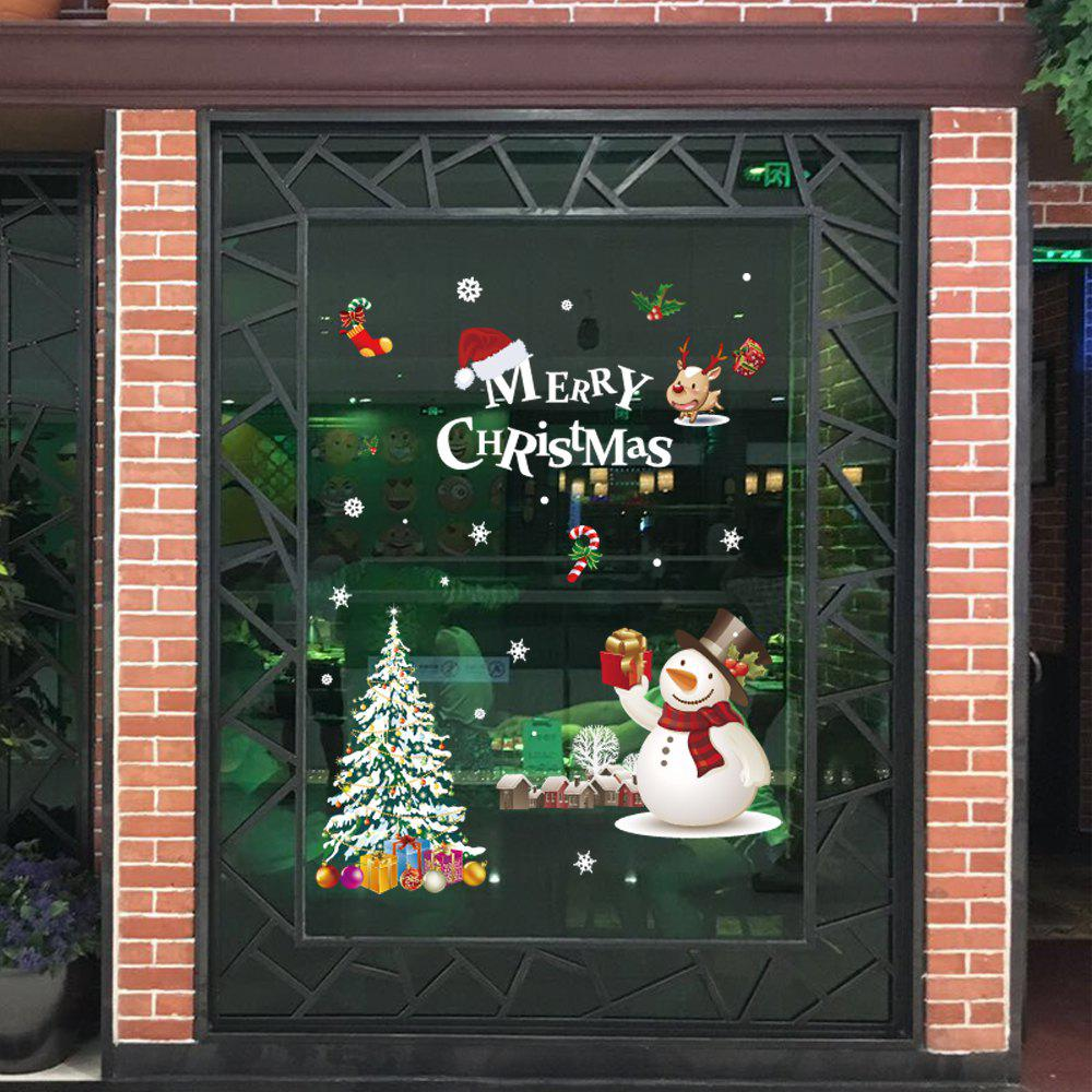 Trendy 1PC Xmas Decorative Decal Window Stickers Removable (WHITE)