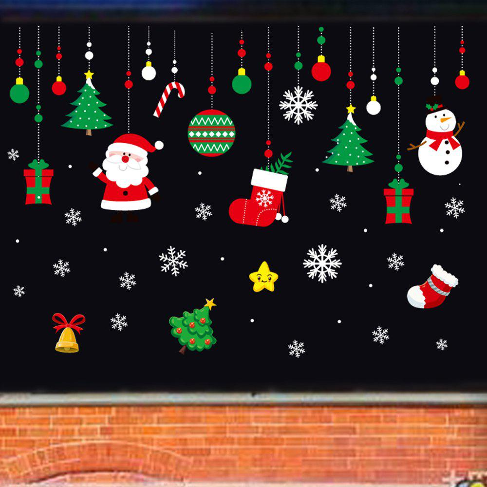 Trendy 1PC Xmas Decorative Decal Window Stickers Removable (GREEN)
