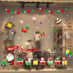1PC Xmas Decorative Decal Window Stickers Removable Glass Wall Stickers(Multico) -