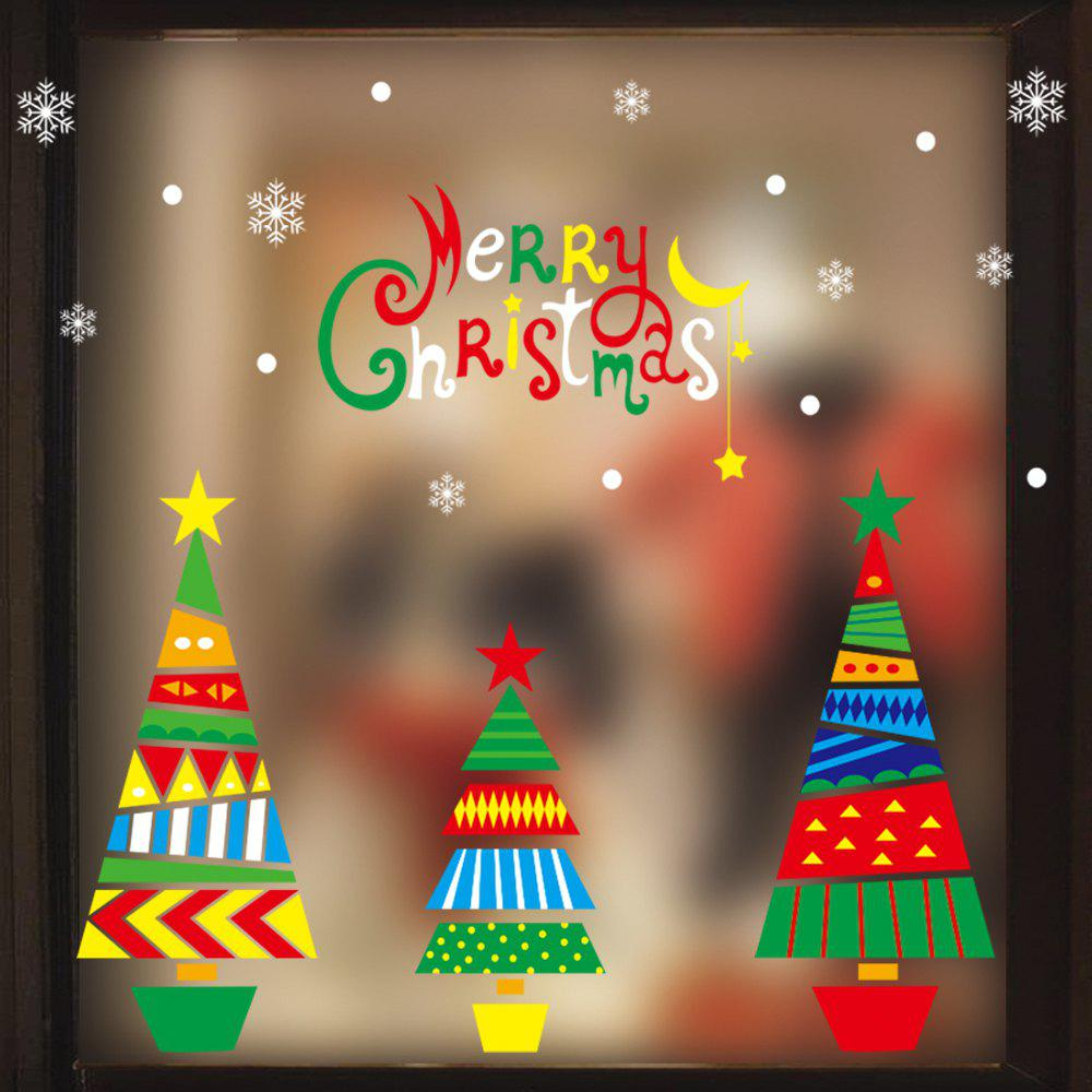 Latest 1PC Xmas Decorative Decal Window Stickers Removable Glass Wall Stickers(Multico)