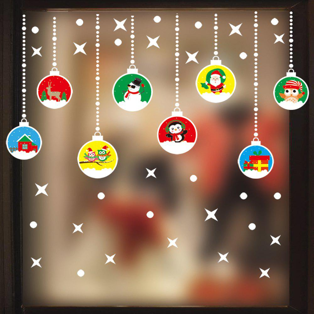 Sale 1PC Xmas Decorative Decal Window Stickers Removable Glass Wall Stickers(Multico)