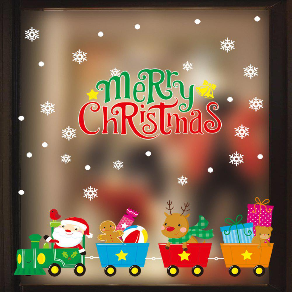 Buy 1PC Xmas Decorative Decal Window Stickers Removable Glass Wall Stickers(Multico)