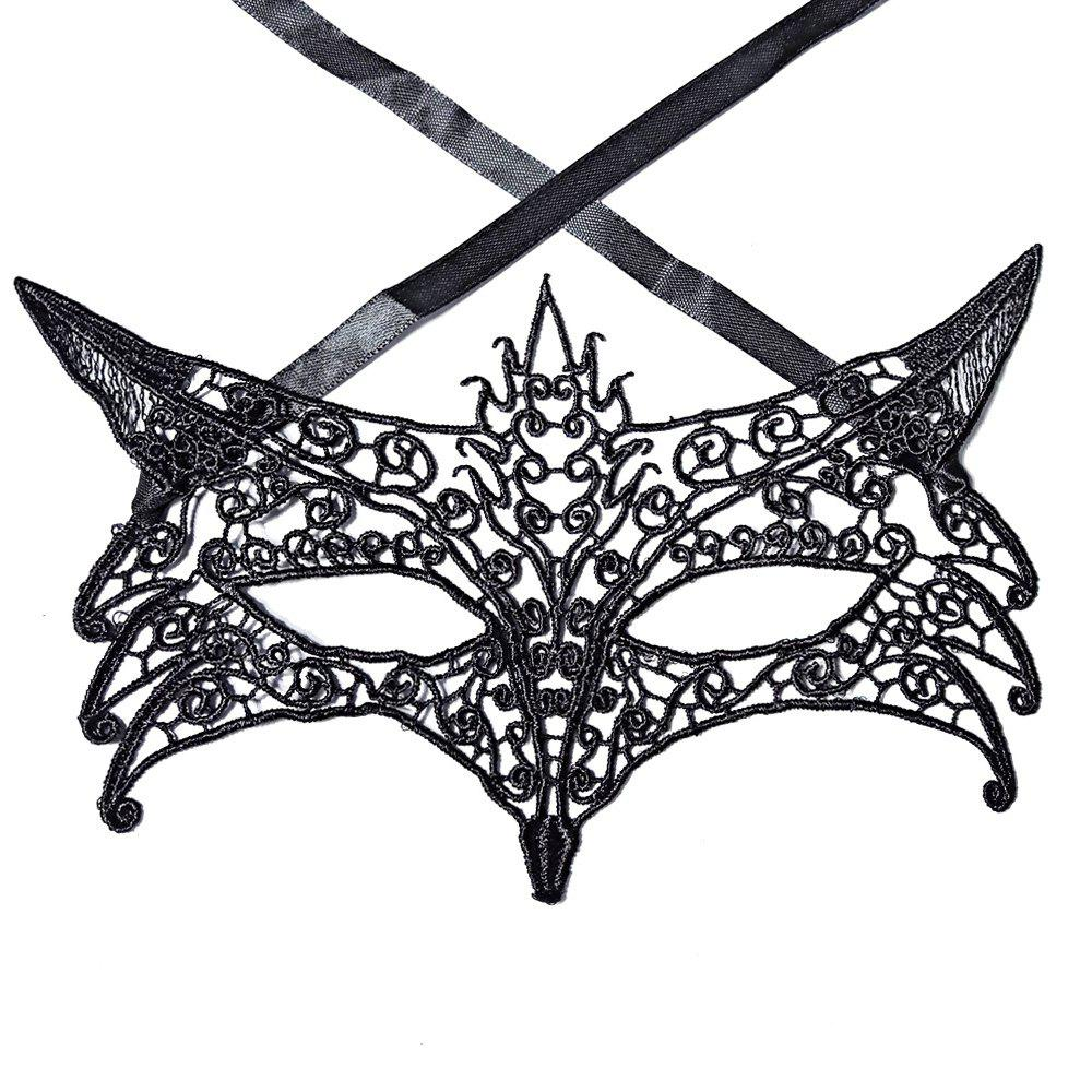 Best Sexy Women Black Lace Masquerade Mask Halloween Cosplay Carnaval Party Prop 23