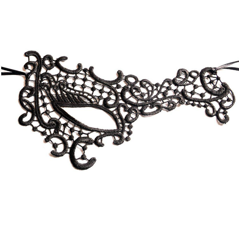 Unique Sexy Women Black Lace Masquerade Mask Halloween Cosplay Carnaval Party Prop 23