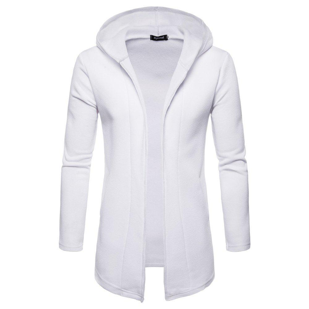 Fashion Solid Color Button-Free Cardigan Long-Sleeved Men's Sweater