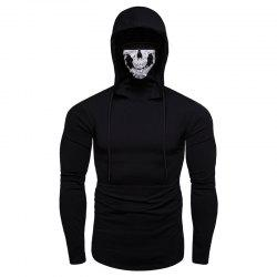 Personalized Printed Face Mask Men's Long Sleeve T-Shirt -