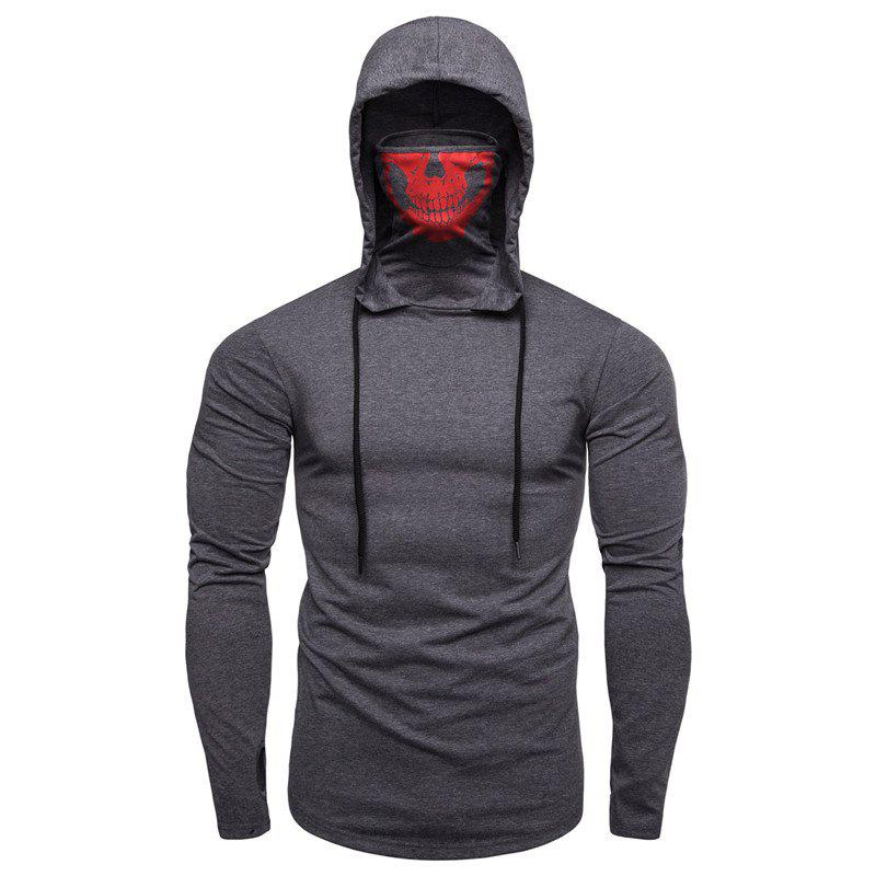 Sale Personalized Printed Face Mask Men's Long Sleeve T-Shirt