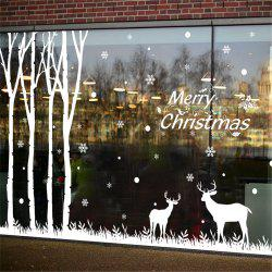 Christmas Tree Reindeer Mall Glass Window Decorating Christmas Sticker -