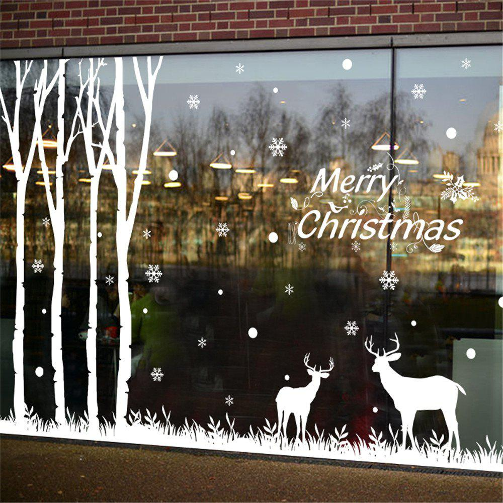 Sale Christmas Tree Reindeer Mall Glass Window Decorating Christmas Sticker