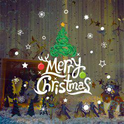 New Year Christmas Window Wall Stickers DIY Christmas Decoration -