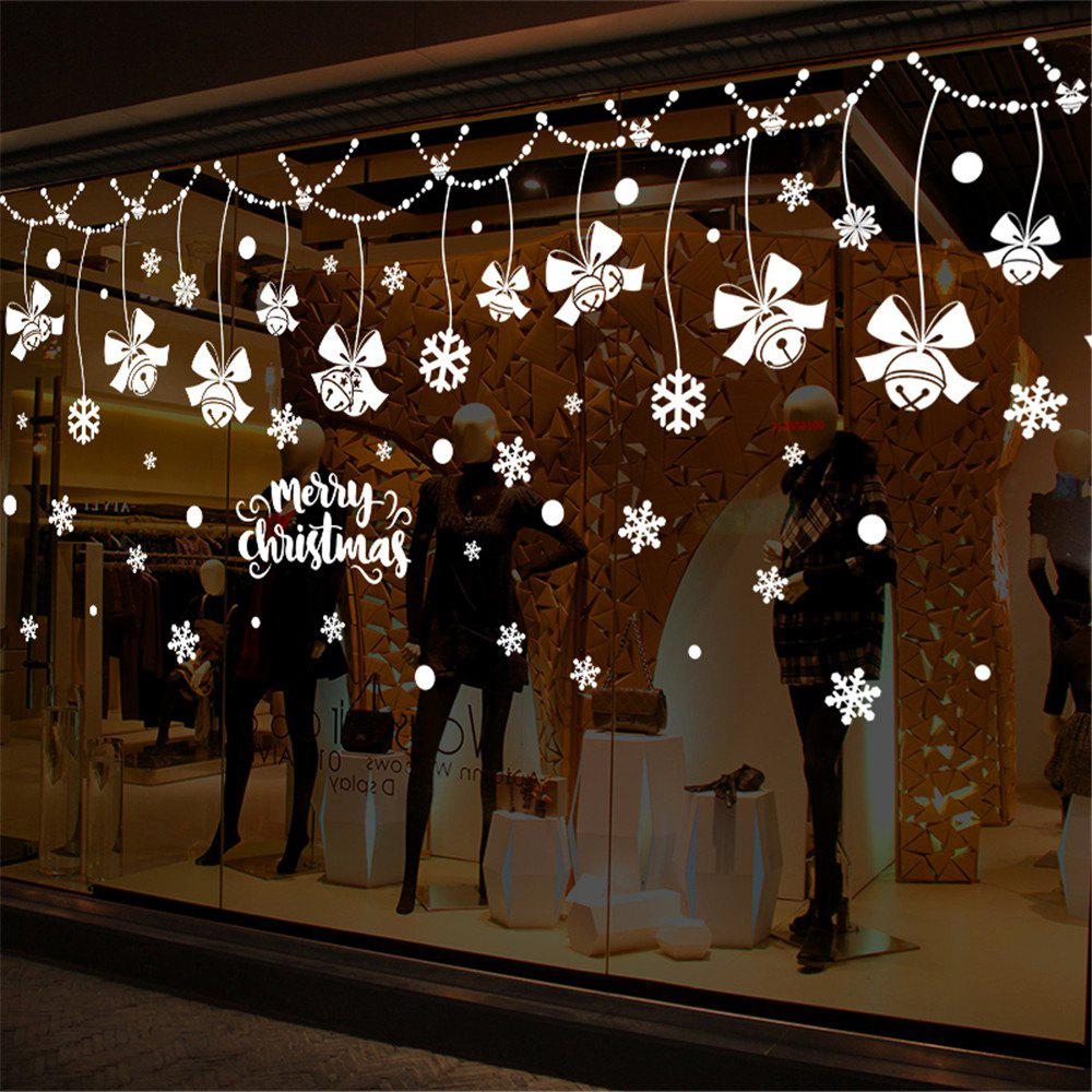Snowflake Around DIY Merry Christmas Wall Art Removable Home Vinyl Window Wall S
