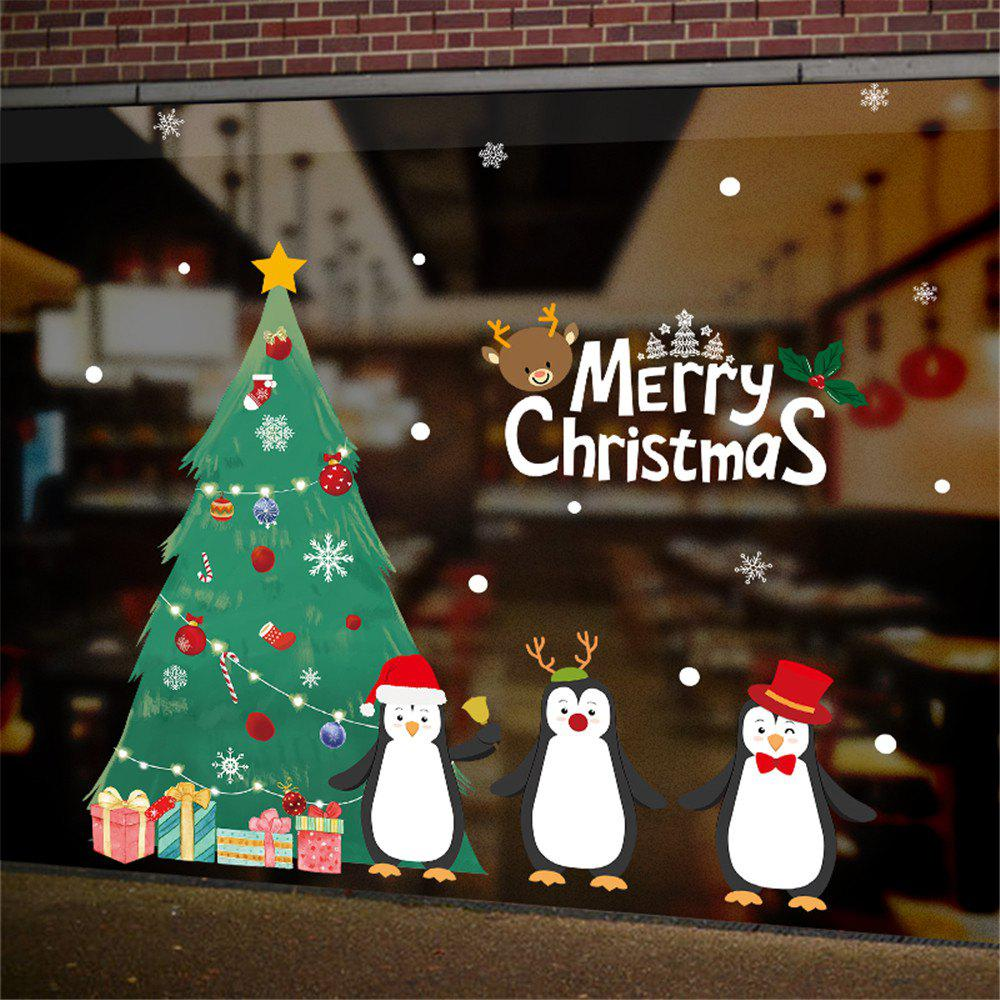 New DIY White Snow Christmas Wall Stickers Window Glass Festival Decals