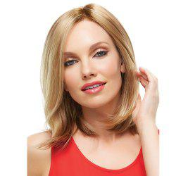 Fashionable Female Aureate Divide Short Curl WIG-064 -