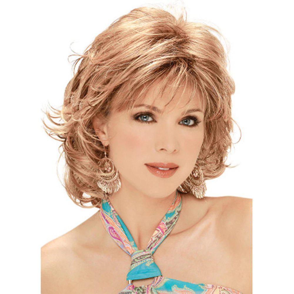 Online Women Have Short Curly Hair with Sloping Bangs WIG-8978