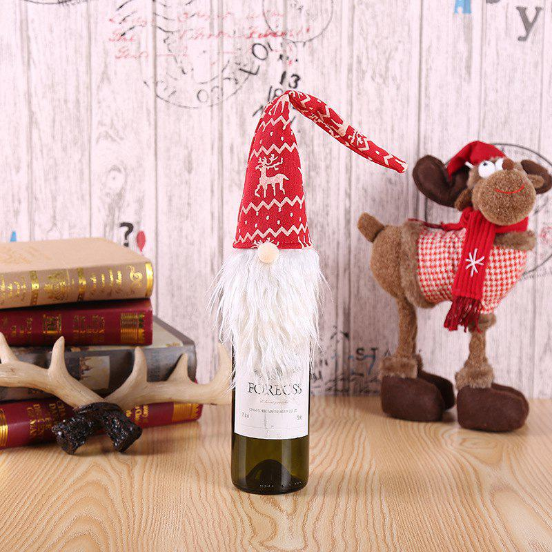 Creative Forest Man Christmas Red Wine Bottle Set Gift Bag