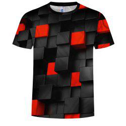 Casual Fashion Men'S Clothing Hot Square Square 3DT Shirt -