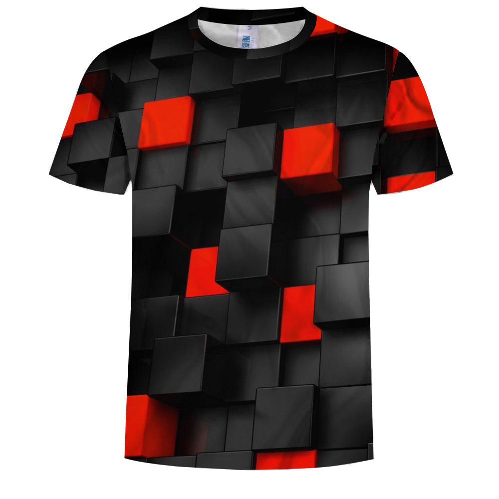 New Casual Fashion Men'S Clothing Hot Square Square 3DT Shirt