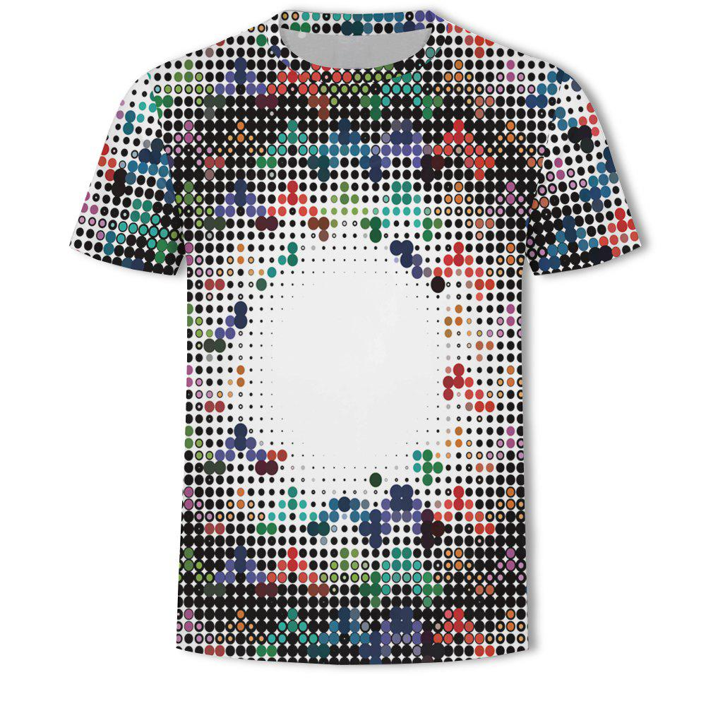 Chic Men's New Ling-Shaped Grate 3D Printed Short-Sleeved T-Shirt