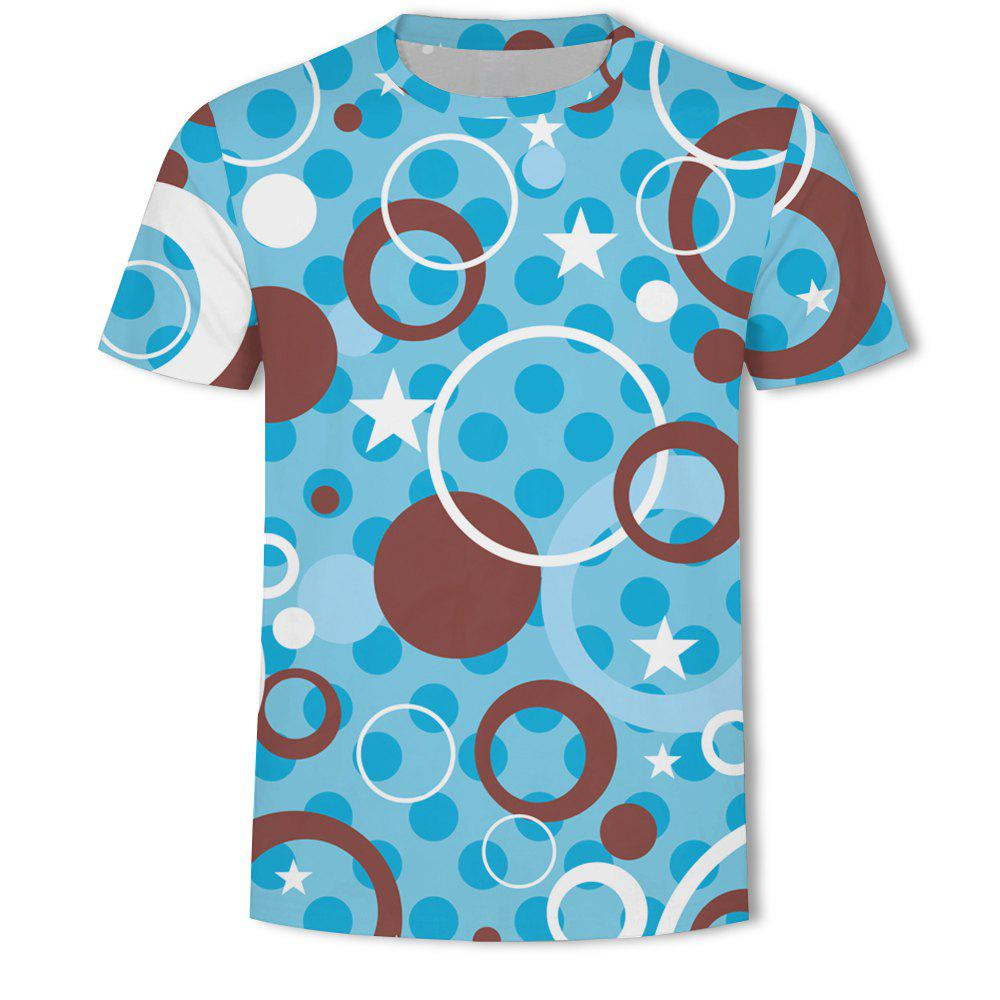 Discount Men's New Ling-Shaped Grate 3D Printed Short-Sleeved T-Shirt