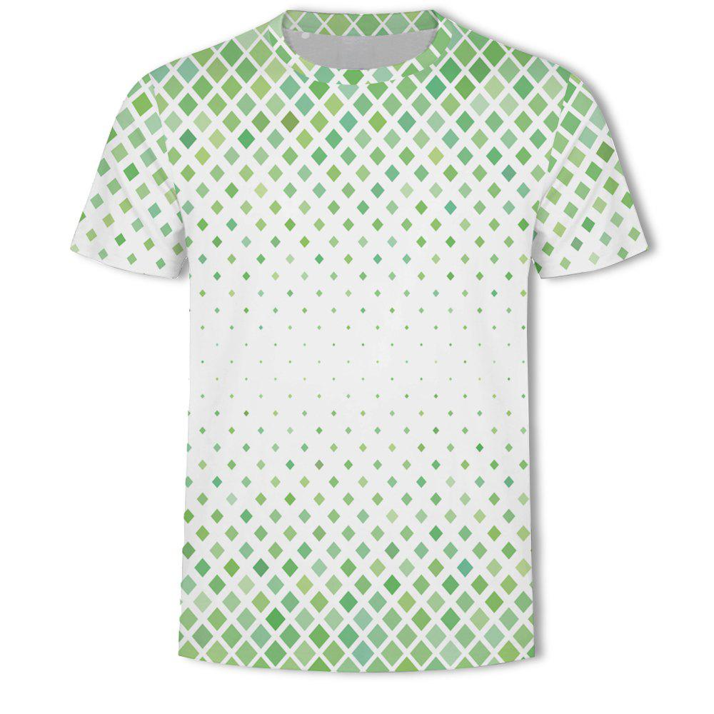 Sale Men's New Ling-Shaped Grate 3D Printed Short-Sleeved T-Shirt
