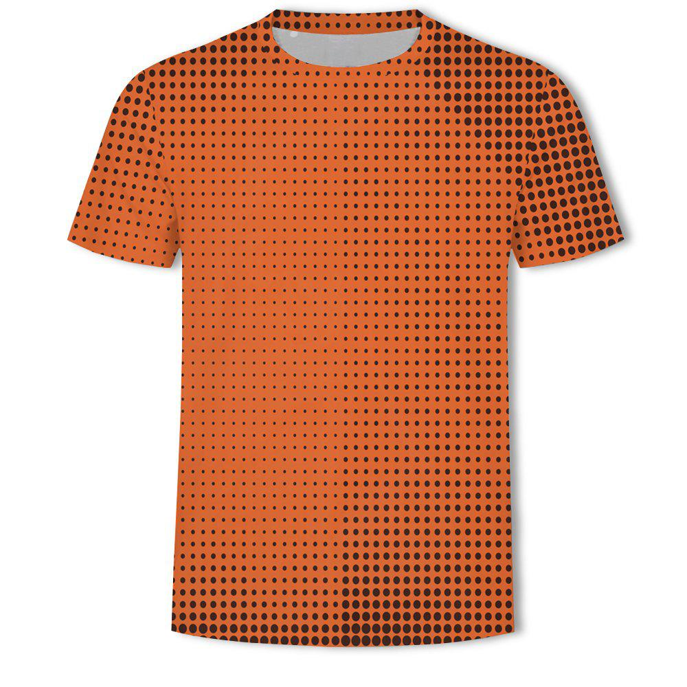 Online Men's New Ling-Shaped Grate 3D Printed Short-Sleeved T-Shirt