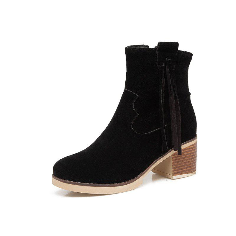 Hot Coarse Fringed Suede Short Boots