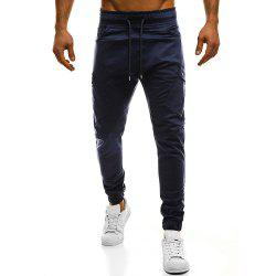 Men's Fashion Oblique Pockets Solid Color Large Size Casual Sweatpants -