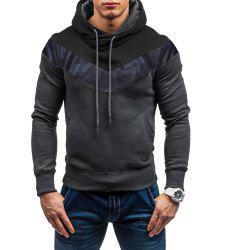 Men's Fashion Camouflage Stitching Casual Slim Sports Sweater -