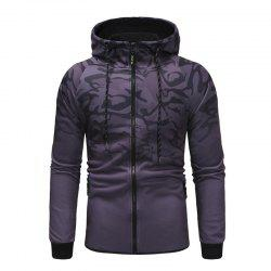 Men'S Camouflage Design Casual Slim Hooded Pullover Sweater -