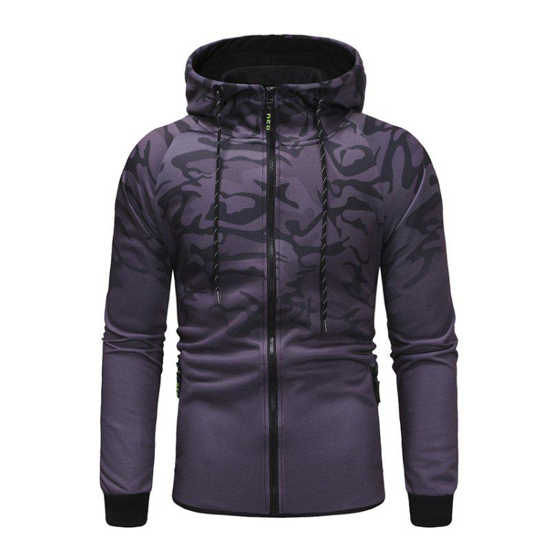 Buy Men'S Camouflage Design Casual Slim Hooded Pullover Sweater