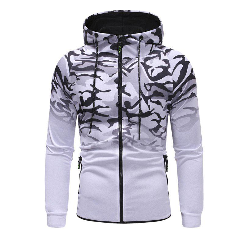 Chic Men'S Camouflage Design Casual Slim Hooded Pullover Sweater