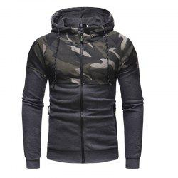 Men'S Classic Camouflage Casual Slim Zipper Hoodie Sweater -