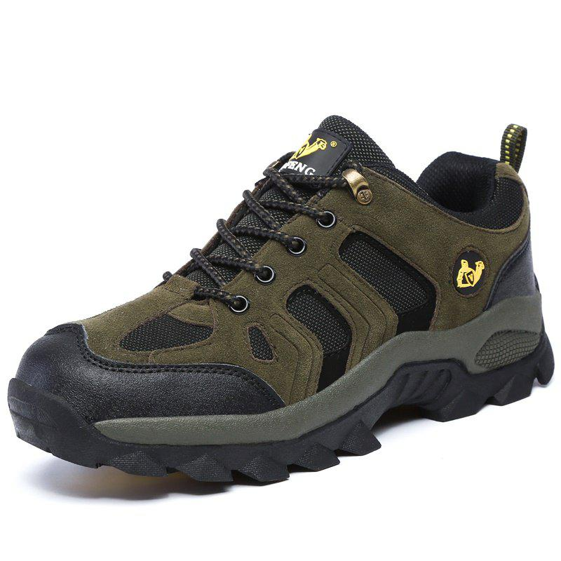 Shops Large Size Suede Men Leisure Outdoor Sports Wear Non-Slip Hiking Shoes