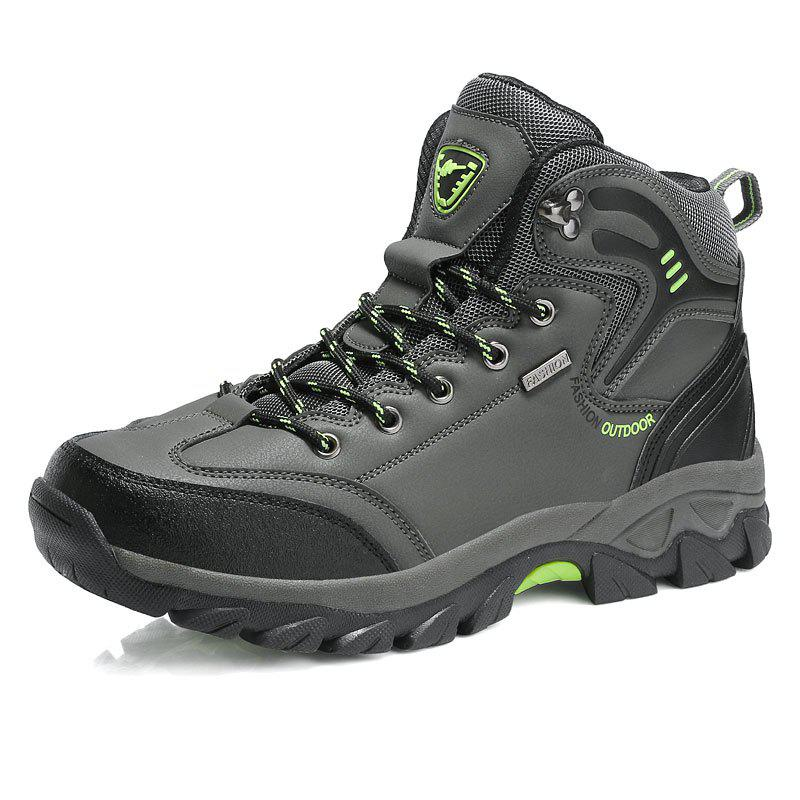 Cheap Large Size Men Outdoor Sports Anti-Skid Wear-Resistant Breathable Hiking Shoes