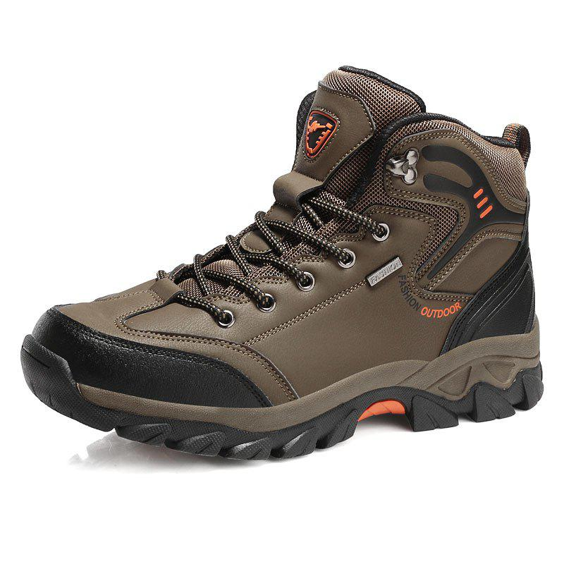 Chic Large Size Men Outdoor Sports Anti-Skid Wear-Resistant Breathable Hiking Shoes