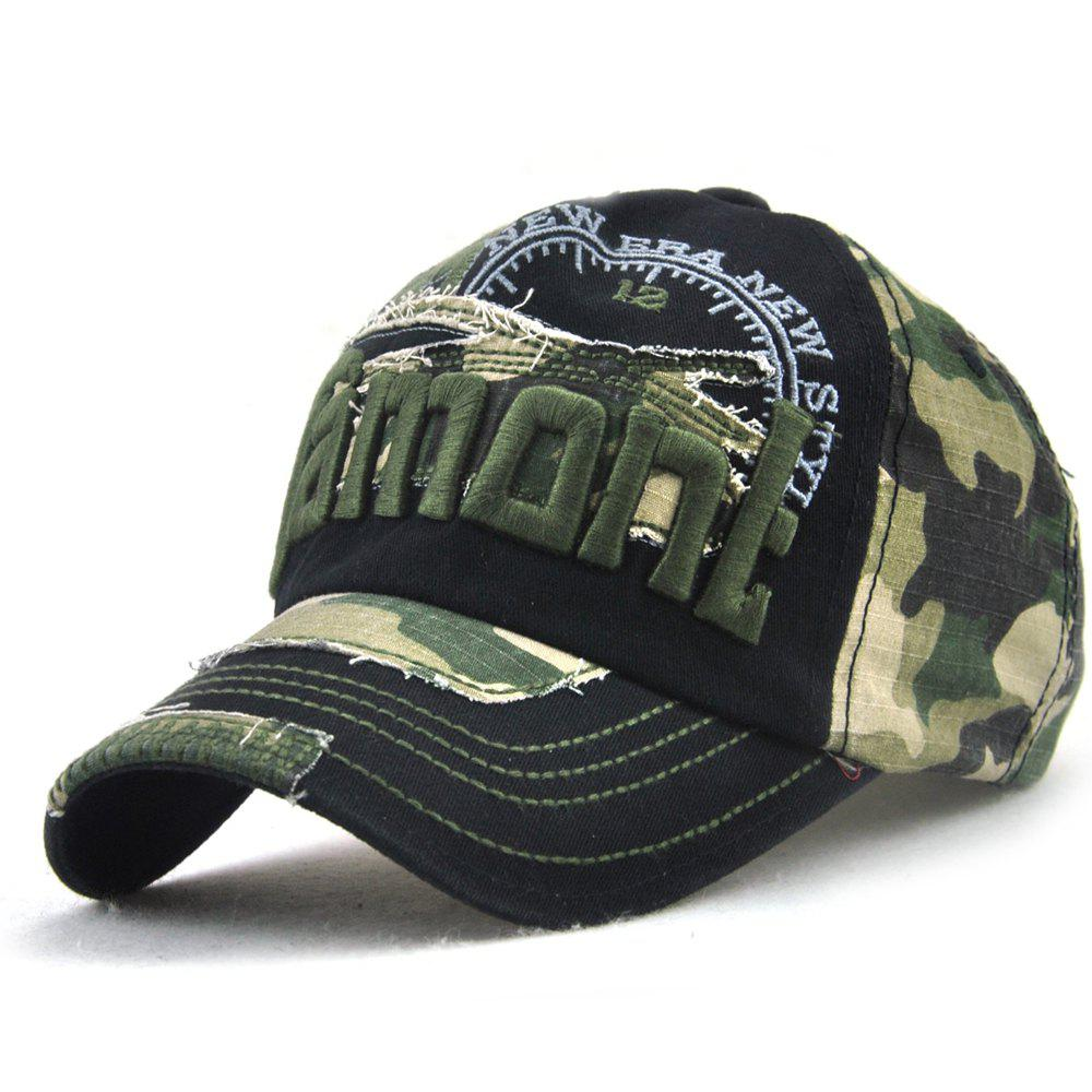 Hot Neutral Cotton Embroidery Camouflage Baseball Caps Outdoor Sunshade Cap