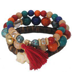 3 Pcs Retro Style Exquisite All Match Tassel Trendy Bracelets -