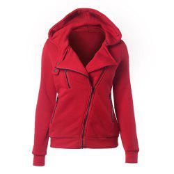 Women'S Fashion Hooded Long-Sleeve Zipper Vest -
