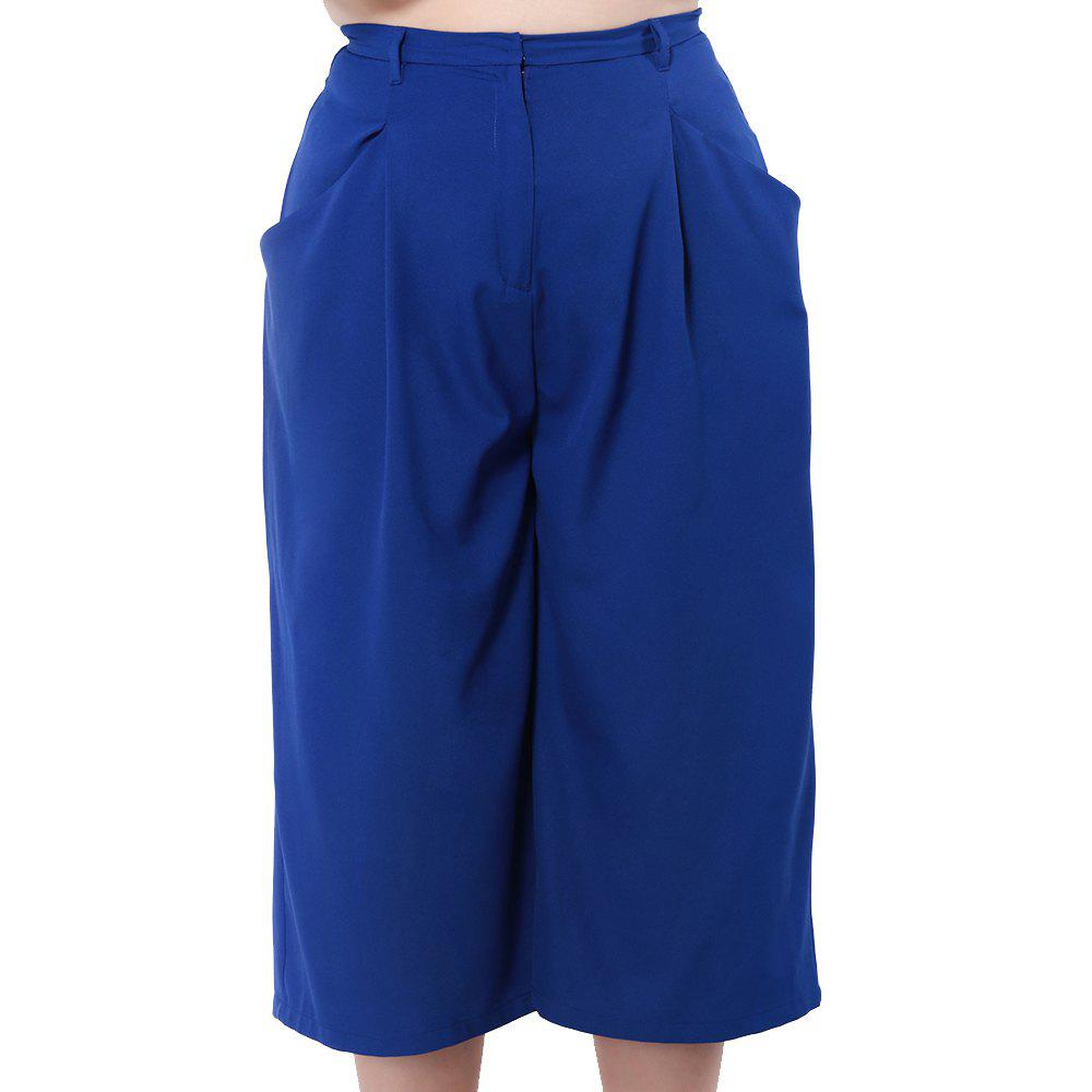 Fancy KISSMILK Women'S Wide Leg Capris Pants Blue