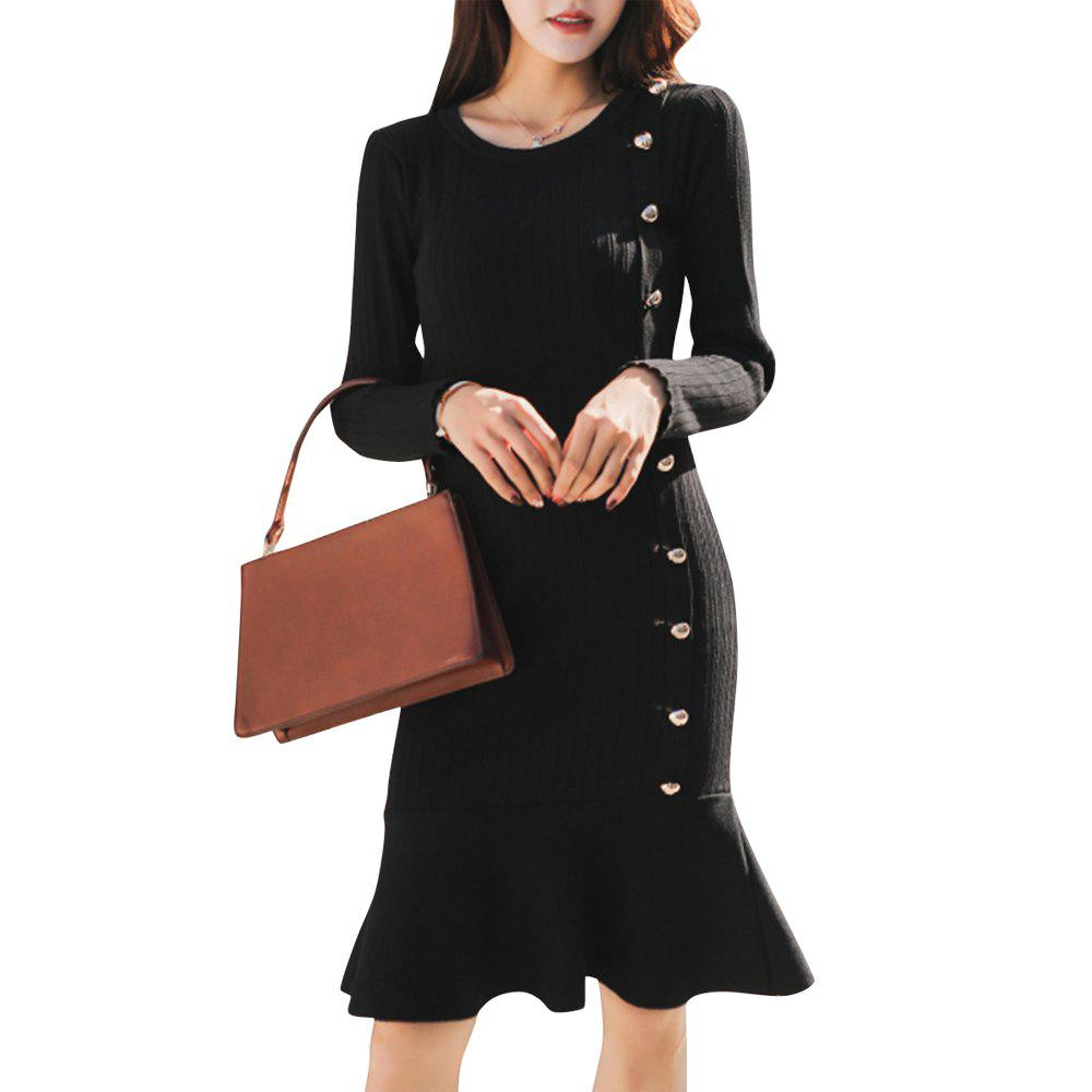 Outfits Women's Sheath Dress Solid Color Dress